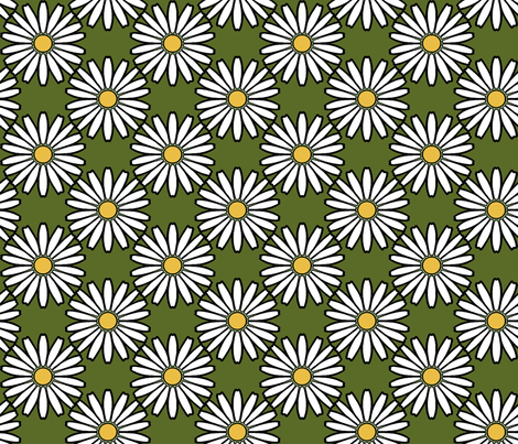 Daisy_white fabric by adranre on Spoonflower - custom fabric