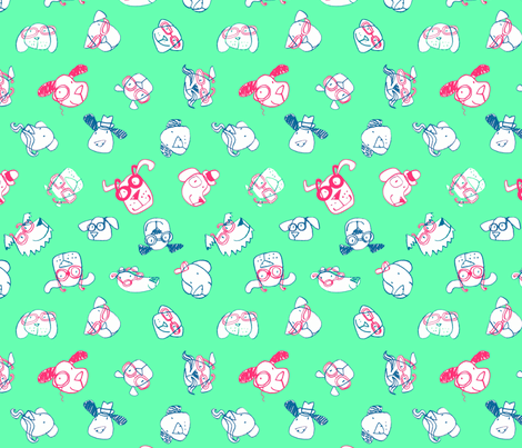 JoBrownSpectacularDogs4 fabric by happytomato on Spoonflower - custom fabric