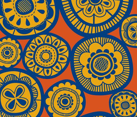 pretty posies sun fabric by tailorjane on Spoonflower - custom fabric