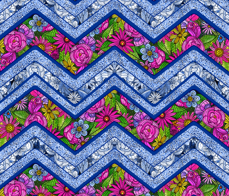Secret garden quilt fabric by dinorahdesign on Spoonflower - custom fabric