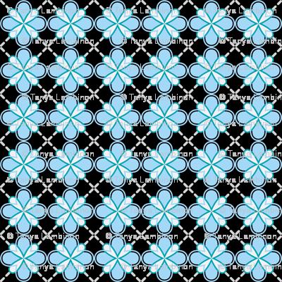 sunny dandilion geometric blue