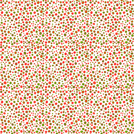 Ditsy polka dots fabric by greennote on Spoonflower - custom fabric