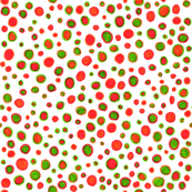 Ditsy polka dots