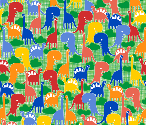Dino-Might fabric by leighr on Spoonflower - custom fabric