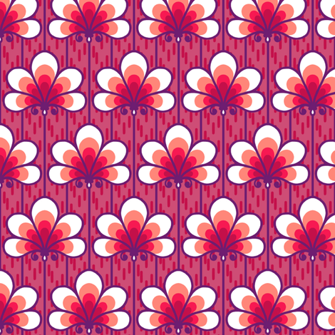 Calais Fans fabric by siya on Spoonflower - custom fabric