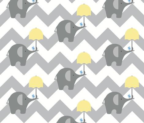 zekie chevron & umbrella fabric by paragonstudios on Spoonflower - custom fabric