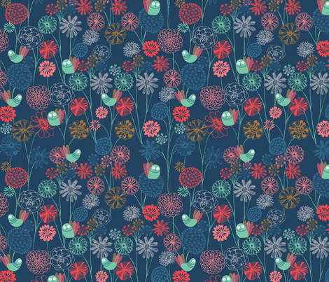 summer night fabric by bethan_janine on Spoonflower - custom fabric