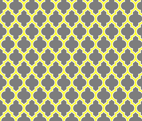 moroccan quatrefoil lattice in gray fabric by spacefem on Spoonflower - custom fabric