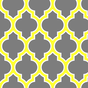 moroccan quatrefoil lattice in gray