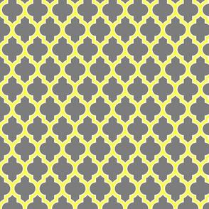 moroccan quatrefoil lattice in gray