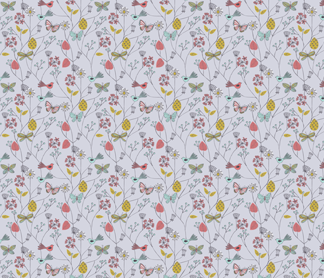 floral nature fabric by bethan_janine on Spoonflower - custom fabric