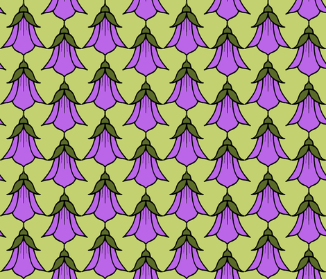 Campanula_pink fabric by adranre on Spoonflower - custom fabric