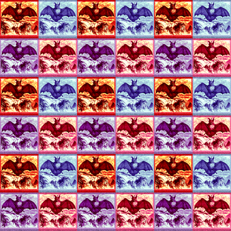 Colorful BATS! fabric by kimb_kreatures on Spoonflower - custom fabric