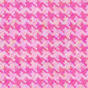 Blush and Peony Houndstooth