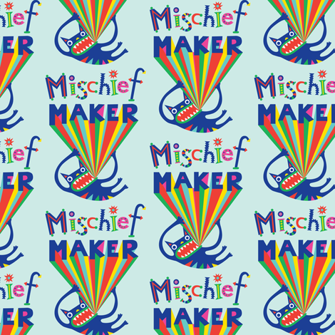 Mischief Maker fabric by andibird on Spoonflower - custom fabric