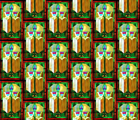 Fairview Stained Glass fabric by anniedeb on Spoonflower - custom fabric