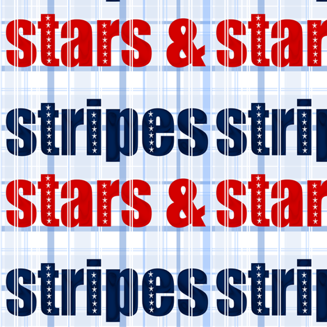 stars-stripes-type fabric by ninjaauntsdesigns on Spoonflower - custom fabric