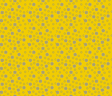 Bloomsday Hooray Yellow fabric by zoebrench on Spoonflower - custom fabric