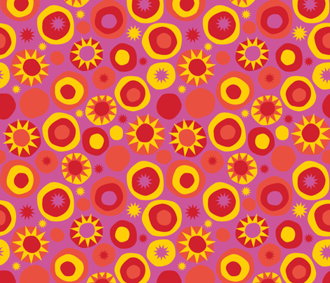 Sun Spots fabric by acbeilke on Spoonflower - custom fabric