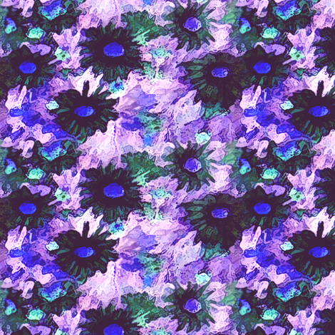 Vintage_Flowers_-_invert fabric by vargamari on Spoonflower - custom fabric