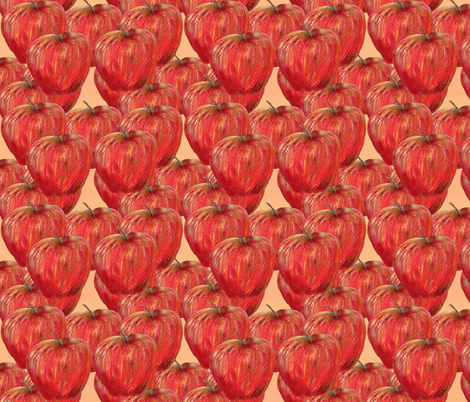 Apple of my Eye fabric by aftermyart on Spoonflower - custom fabric