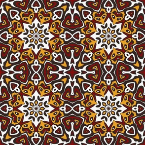SET 2 PATTERN 2 - RED GOLD WHITE BLACK TRIBAL STYLE