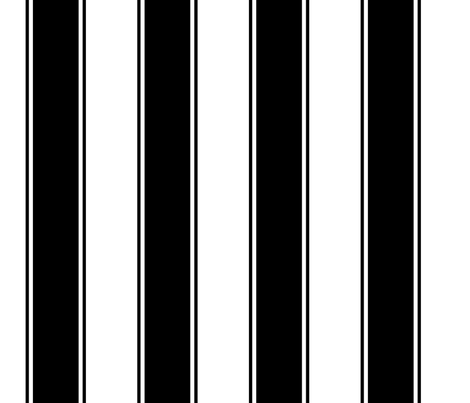 Fat Stripes Cabana in Black and White fabric by fridabarlow on Spoonflower - custom fabric