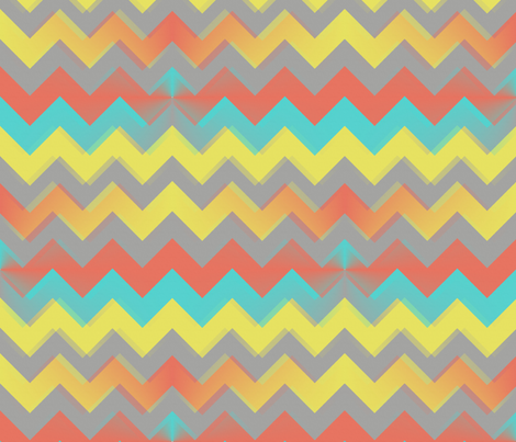Sunset Chevron fabric by bluenini on Spoonflower - custom fabric