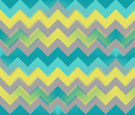 Gradient Ocean Chevron fabric by bluenini on Spoonflower - custom fabric