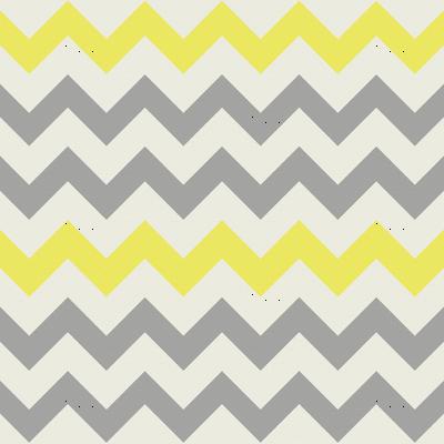 Yellow Grey Chevron