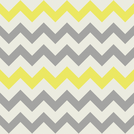 Yellow Grey Chevron fabric by bluenini on Spoonflower - custom fabric