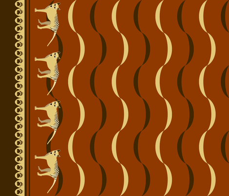 A VERY SAD TAIL fabric by pavlova_is on Spoonflower - custom fabric
