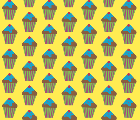 blue icing fabric by fabricfaeries on Spoonflower - custom fabric
