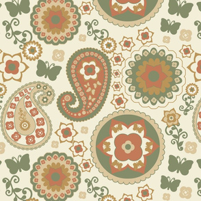 Paisley Natural Earthtones