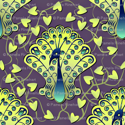 Gilded Peacock - Glowworm Green