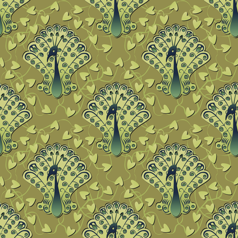Gilded Peacock - Summertime Snap fabric by glimmericks on Spoonflower - custom fabric