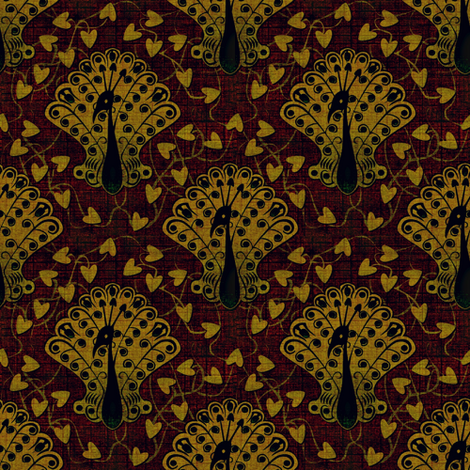 Gilded Peacock Maharaja's Dream fabric by glimmericks on Spoonflower - custom fabric