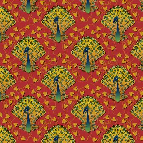 Gilded Peacock Harem Harlot fabric by glimmericks on Spoonflower - custom fabric