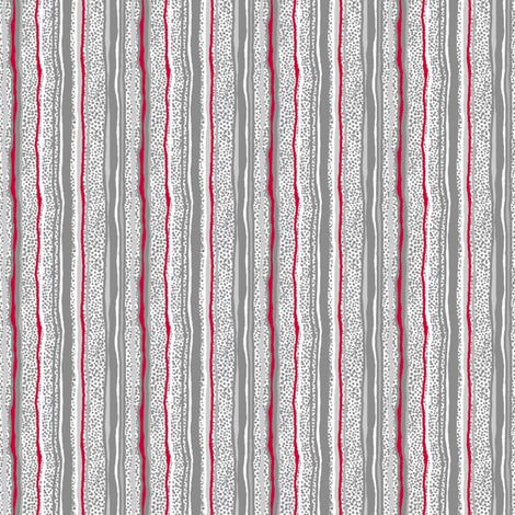 Vertical Stripes Over Little Grey Dots - No Black fabric by tallulahdahling on Spoonflower - custom fabric