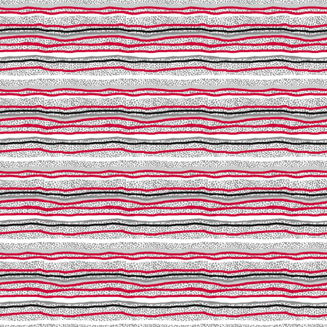 Horizontal Stripes Over Little Grey Dots fabric by tallulahdahling on Spoonflower - custom fabric