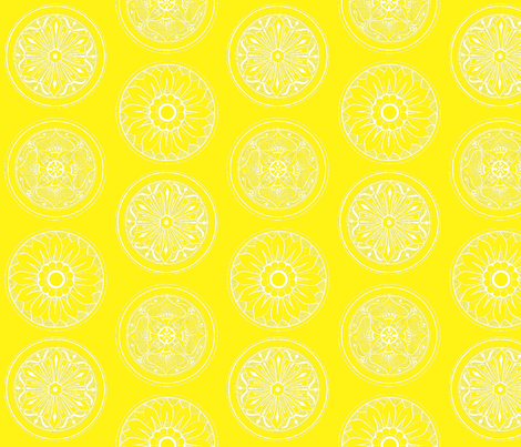 Medallions Yellow fabric by dolphinandcondor on Spoonflower - custom fabric