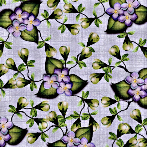 Floralsky - Linen fabric by glimmericks on Spoonflower - custom fabric