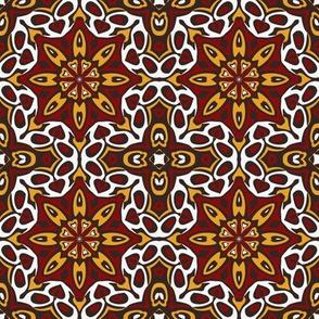 SET 2 PATTERN 5 - RED GOLD WHITE BLACK TRIBAL STYLE