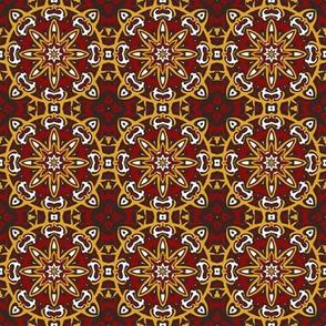 SET 2 PATTERN 7 - RED GOLD WHITE BLACK TRIBAL STYLE