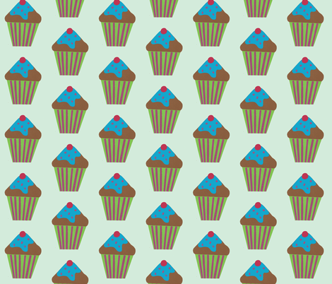 blue icing blue fabric by weebeastiecreations on Spoonflower - custom fabric