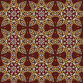 SET 2 PATTERN 8 - RED GOLD WHITE BLACK TRIBAL STYLE