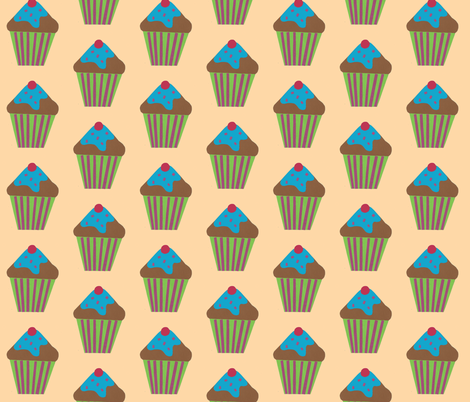 blue icing pale yellow fabric by fabricfaeries on Spoonflower - custom fabric