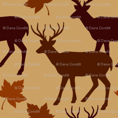 Fall Leaves Animal Deer Buck Up 1