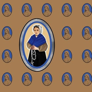 Saint Bernadette and Our Lady of Lourdes
