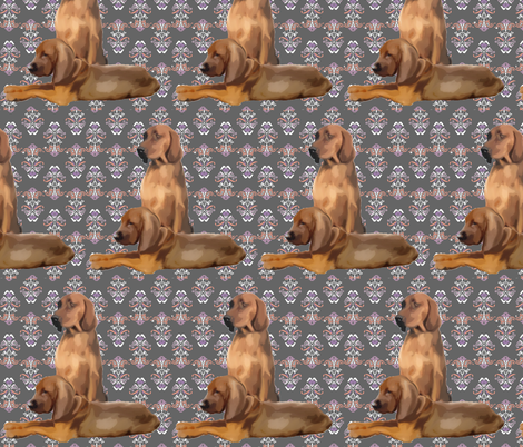 Redbone Coonhound dog fabric fabric by dogdaze_ on Spoonflower - custom fabric